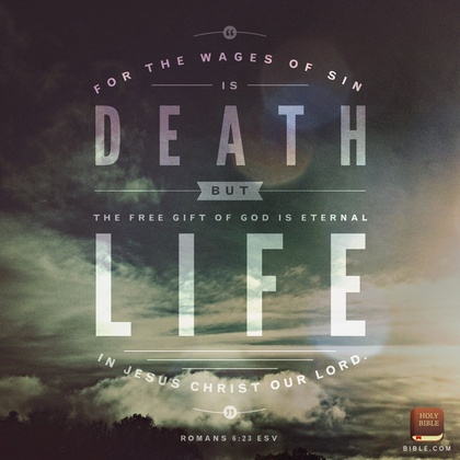 Romans 6, 23 image