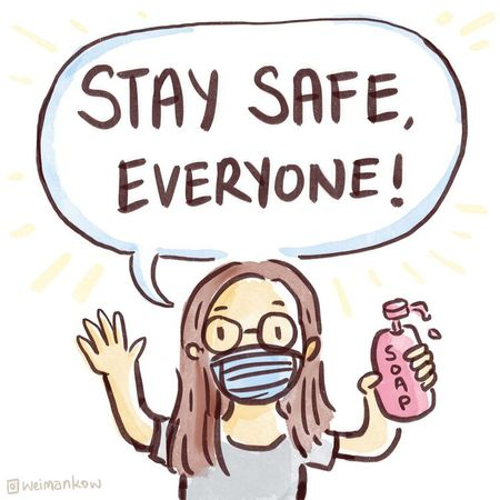 stay safe cartoon